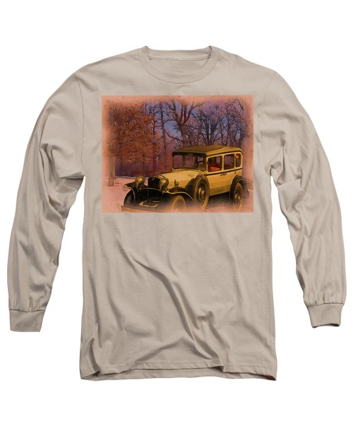 Vintage Auto In Winter Long Sleeve T-Shirt