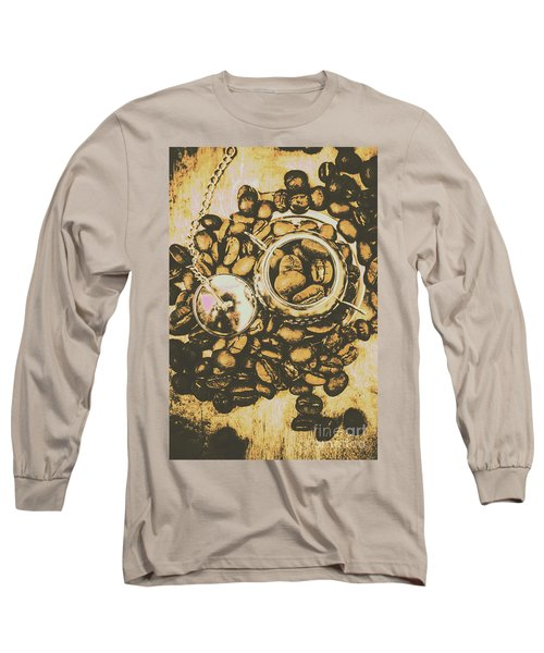 Vintage Cafe Artwork Long Sleeve T-Shirt