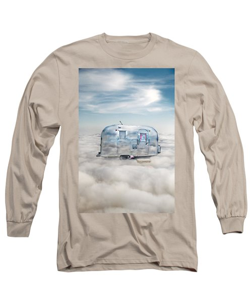 Vintage Camping Trailer In The Clouds Long Sleeve T-Shirt
