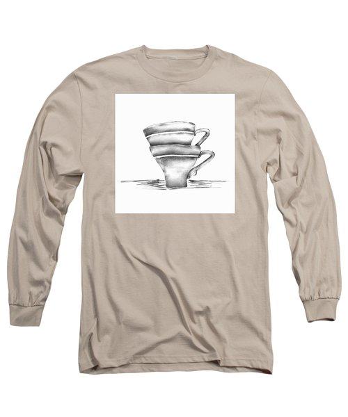 Vintage Cups Long Sleeve T-Shirt by Brenda Bryant