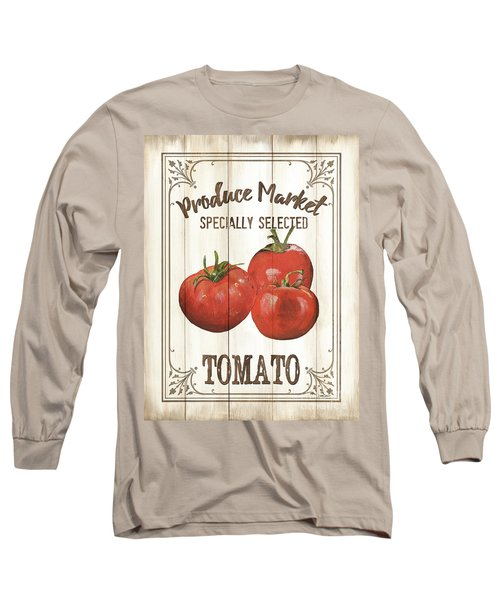 Long Sleeve T-Shirt featuring the painting Vintage Fresh Vegetables 4 by Debbie DeWitt