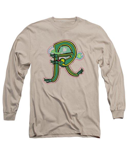 Vintage Letter R Frog Long Sleeve T-Shirt