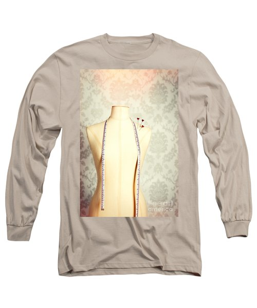 Vintage Mannequin With Tape Measure Long Sleeve T-Shirt