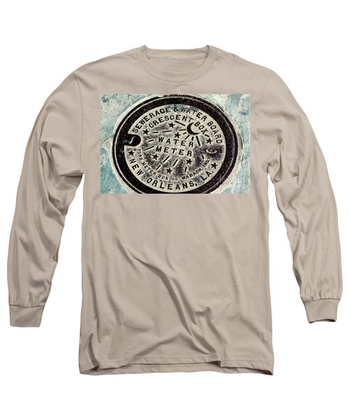 Vintage New Orleans Water Meter Long Sleeve T-Shirt