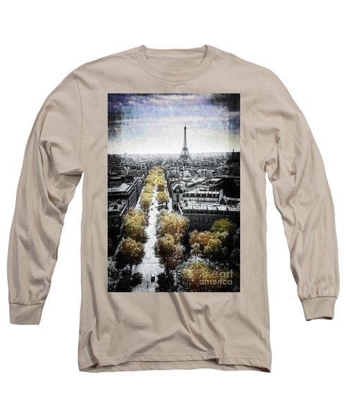 Vintage Paris Long Sleeve T-Shirt