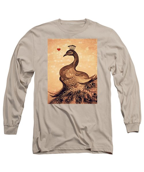 Vintage Peacock Long Sleeve T-Shirt