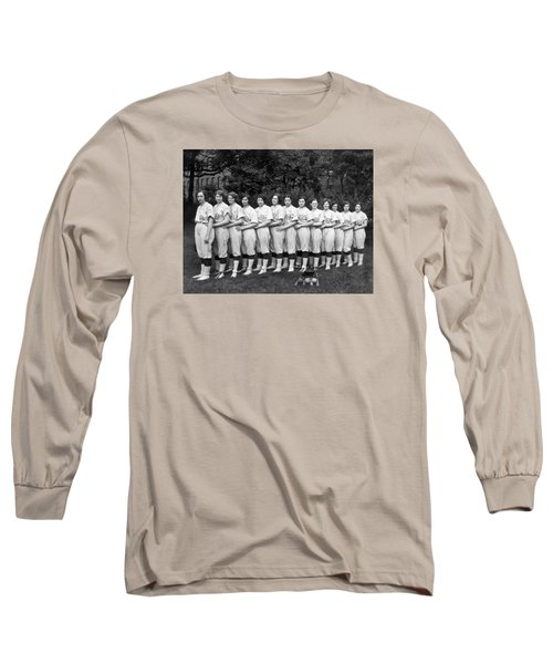 Vintage Photo Of Women's Baseball Team Long Sleeve T-Shirt by American School