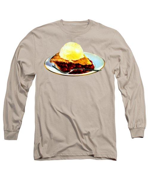 Vintage Pie A La Mode Long Sleeve T-Shirt