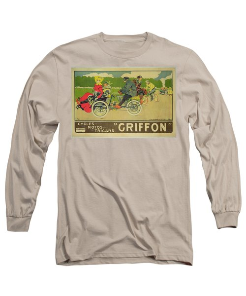 Vintage Poster Bicycle Advertisement Long Sleeve T-Shirt by Walter Thor