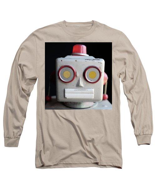 Vintage Robot Square Long Sleeve T-Shirt
