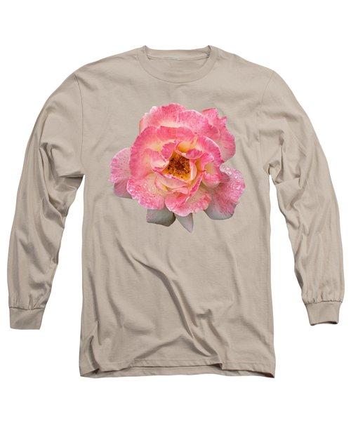 Vintage Rose Square Long Sleeve T-Shirt