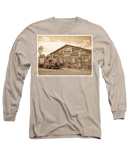Vintage Service Station Long Sleeve T-Shirt by Steve McKinzie