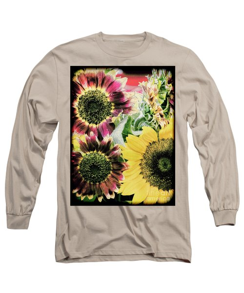 Vintage Sunflowers Long Sleeve T-Shirt