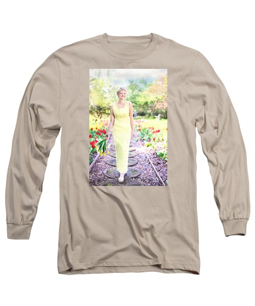 Vintage Val In Tulips Long Sleeve T-Shirt