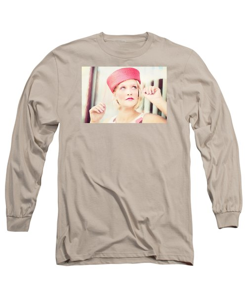 Vintage Val The Coral Hat Long Sleeve T-Shirt
