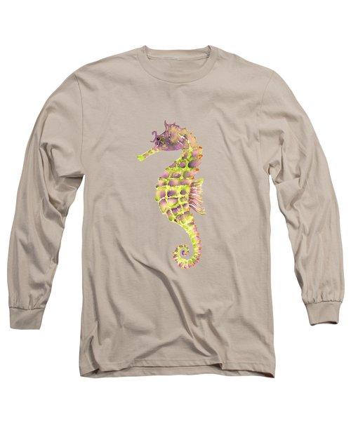 Violet Green Seahorse - Square Long Sleeve T-Shirt