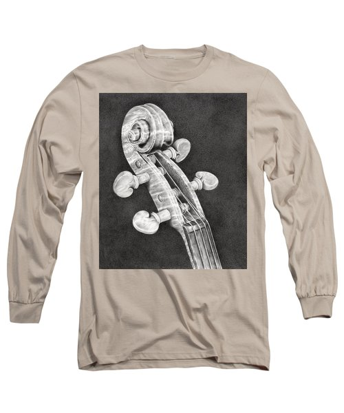 Violin Scroll Long Sleeve T-Shirt