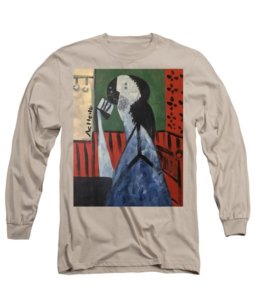 Vitae Thinking Man At The Tea House  Long Sleeve T-Shirt