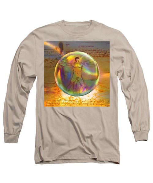 Vitruvian Vulcan Long Sleeve T-Shirt by Robin Moline