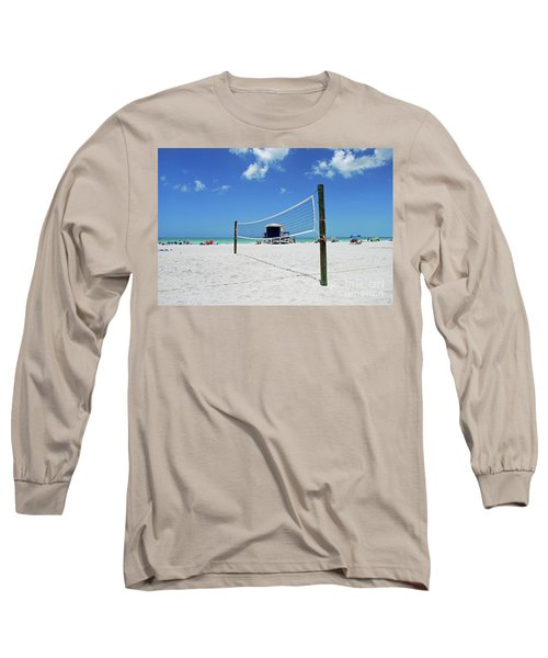 Long Sleeve T-Shirt featuring the photograph Volley Ball On The Beach by Gary Wonning