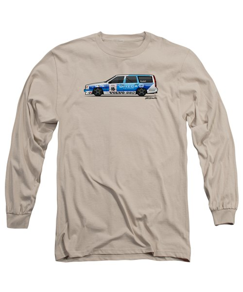 Volvo 850r Twr British Touring Car Championship  Long Sleeve T-Shirt by Monkey Crisis On Mars