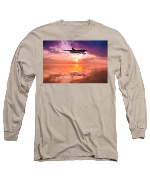 Vulcan Dawn Colour Long Sleeve T-Shirt by Ken Brannen