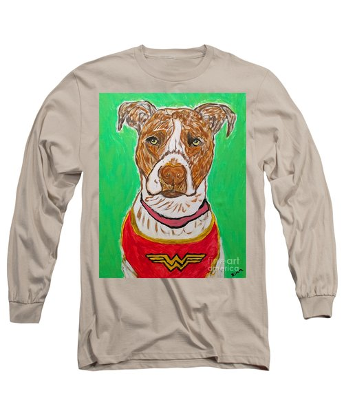 Long Sleeve T-Shirt featuring the painting W Boy by Ania M Milo