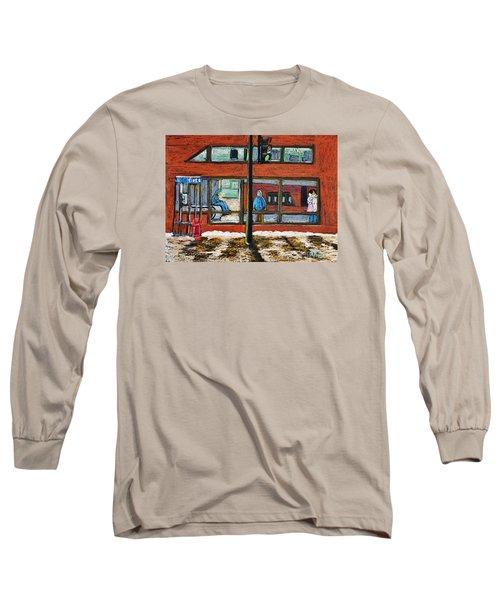 Waiting At The Metro Long Sleeve T-Shirt