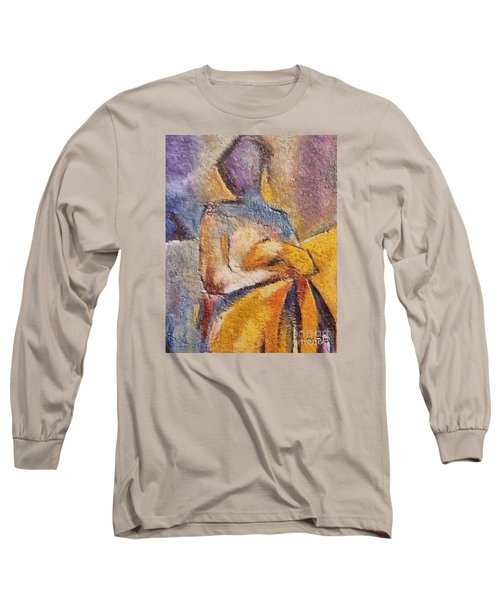 Long Sleeve T-Shirt featuring the mixed media Waiting by Dragica  Micki Fortuna
