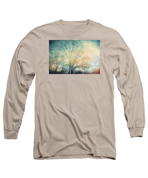 Waiting For Rain Long Sleeve T-Shirt by Michele Cornelius