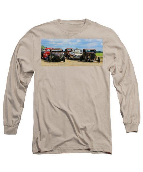 Long Sleeve T-Shirt featuring the photograph Waiting In Line by Christopher McKenzie