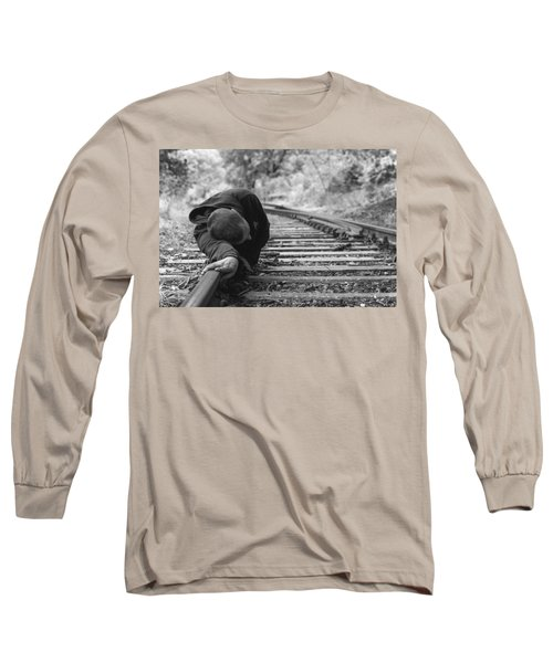 Waiting On The Rails Long Sleeve T-Shirt