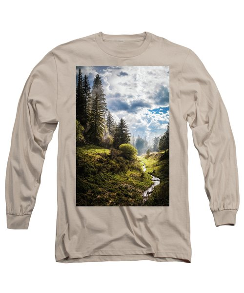 Waiting Out The Rain Long Sleeve T-Shirt