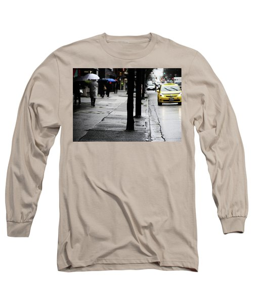 Walk Or Cab Long Sleeve T-Shirt by Empty Wall