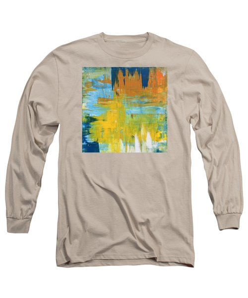 Walking On Sunshine - 48x48 Huge Original Painting Art Abstract Artist Long Sleeve T-Shirt