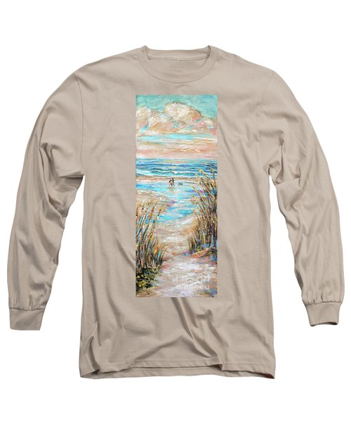Walking The Dog IIi Long Sleeve T-Shirt by Linda Olsen