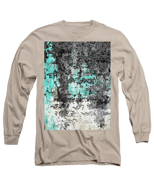 Wall Abstract 185 Long Sleeve T-Shirt by Maria Huntley