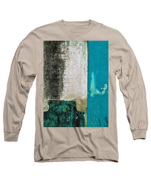 Wall Abstract 296 Long Sleeve T-Shirt by Maria Huntley