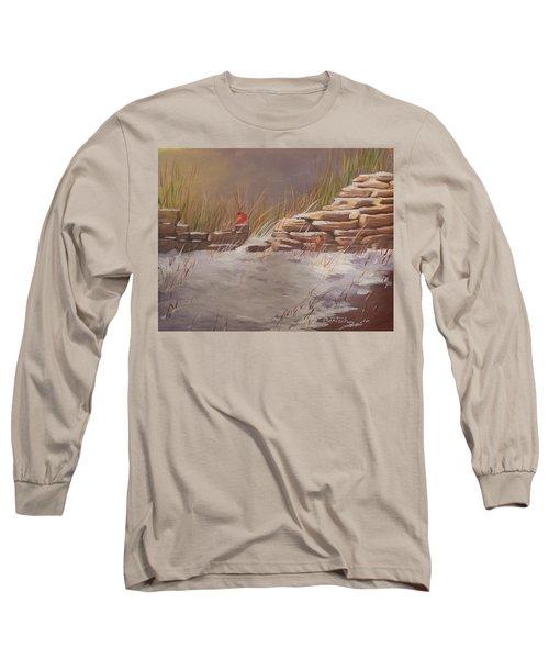 Wall In Winter Long Sleeve T-Shirt