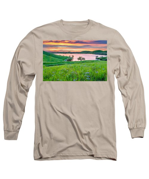 Long Sleeve T-Shirt featuring the photograph Wally Baskets Above Contra Loma  by Marc Crumpler