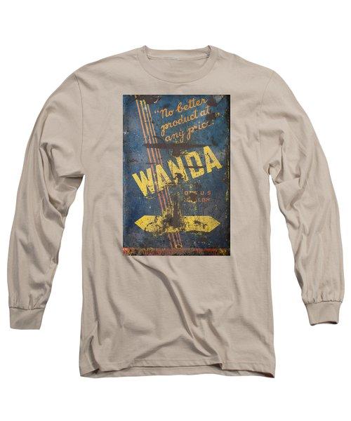 Wanda Motor Oil Vintage Sign Long Sleeve T-Shirt