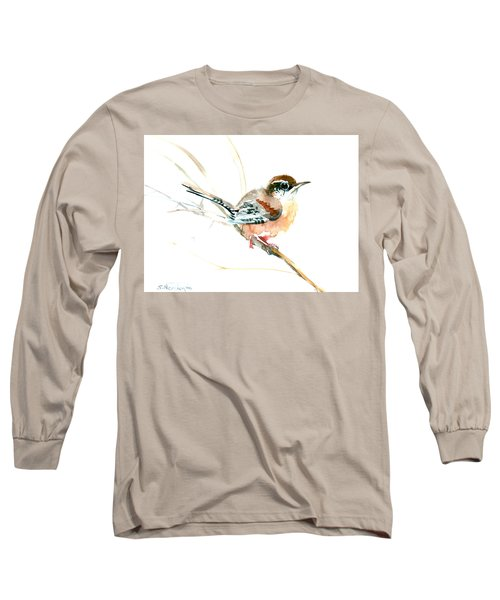 Warbler Songbird Art  Long Sleeve T-Shirt