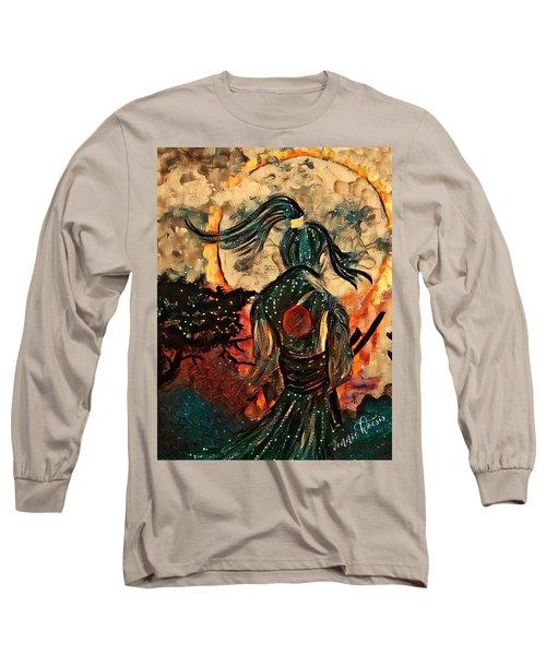 Warrior Moon Long Sleeve T-Shirt