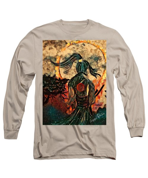 Warrior Moon Long Sleeve T-Shirt