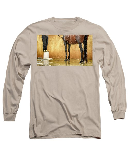 Washing A Horse Long Sleeve T-Shirt