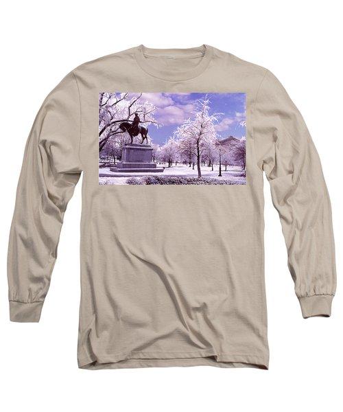 Long Sleeve T-Shirt featuring the photograph Washington Square Park by Steve Karol