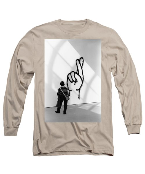 Watching Figers Crossed  Long Sleeve T-Shirt