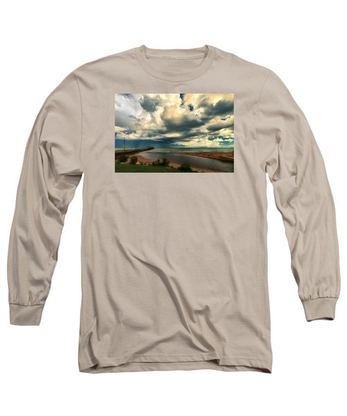 Watching The Storm On Lake Erie Long Sleeve T-Shirt
