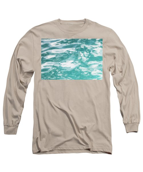 Water Abstract 001 Long Sleeve T-Shirt by Rich Franco