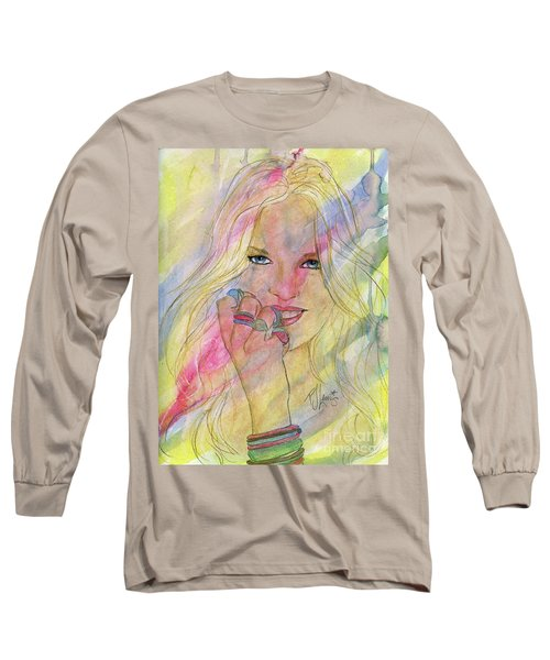 Water Colored Memories Long Sleeve T-Shirt by P J Lewis